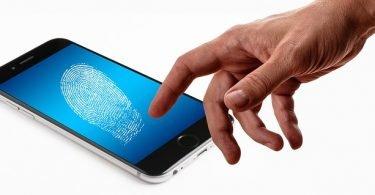 fingerprint on cell phone